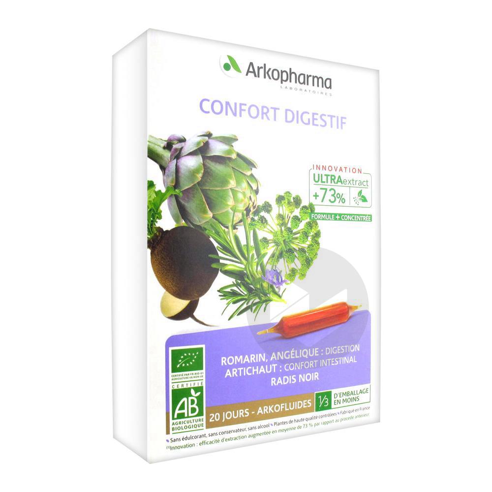 Arkofluide Bio Ultraextract S Buv Confort Digestif 20 Amp 10 Ml