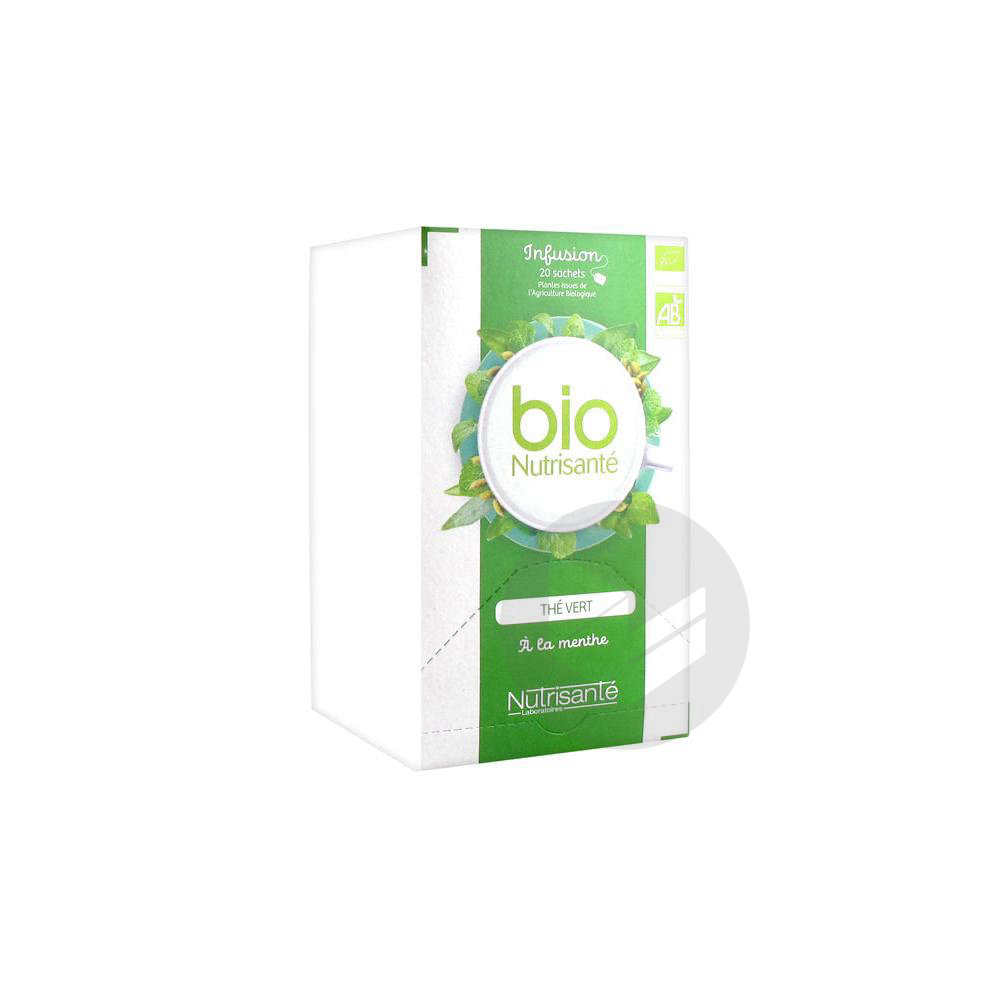 Nutrisante Infusions Bio The Vert Menthe 20 Sach
