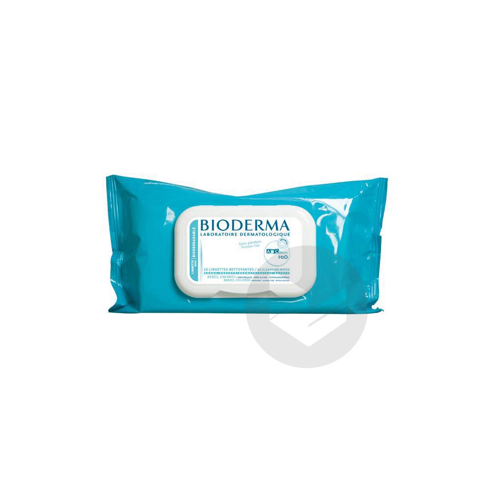 ABCDERM H2O Lingette dermatologique nettoyante bébé bio Etui/60