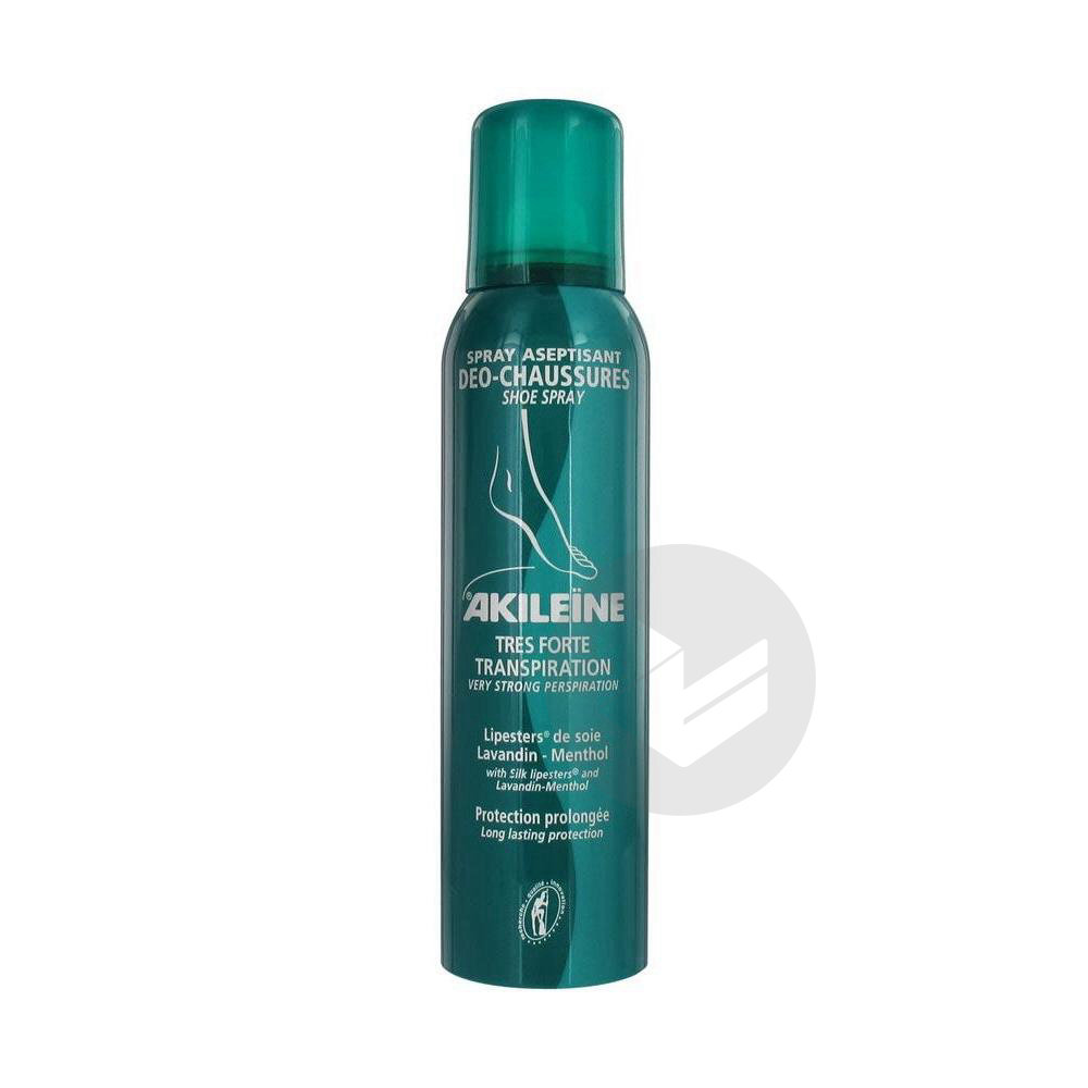 Akileine Soins Verts Sol Chaussure Deo Aseptisant Spray 150 Ml