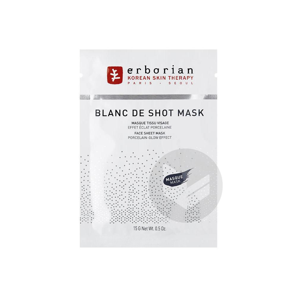 Blanc De Shot Mask Masque Tissu Visage 15 G