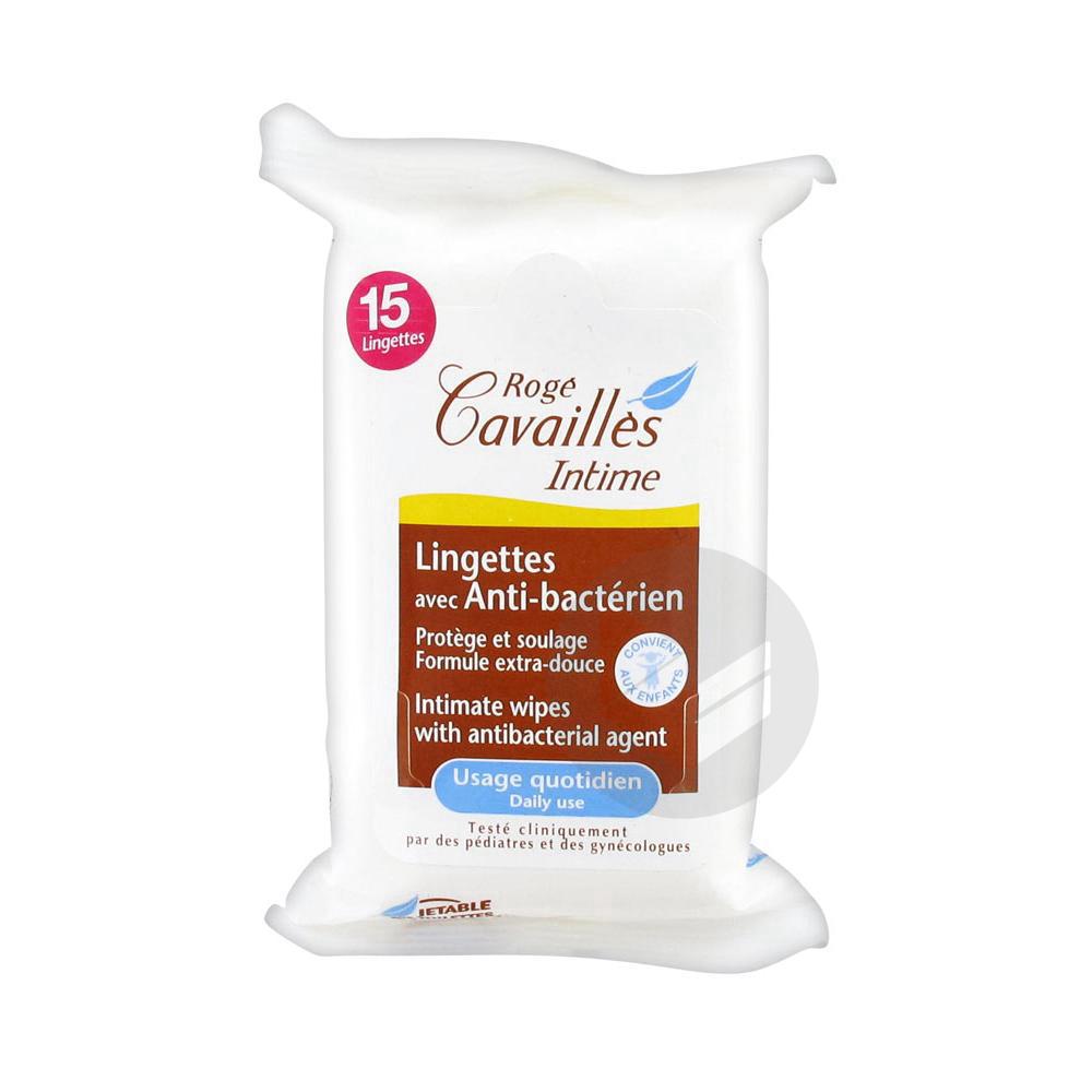 Roge Cavailles Intime Lingette Avec Anti Bacterien Pochette 15