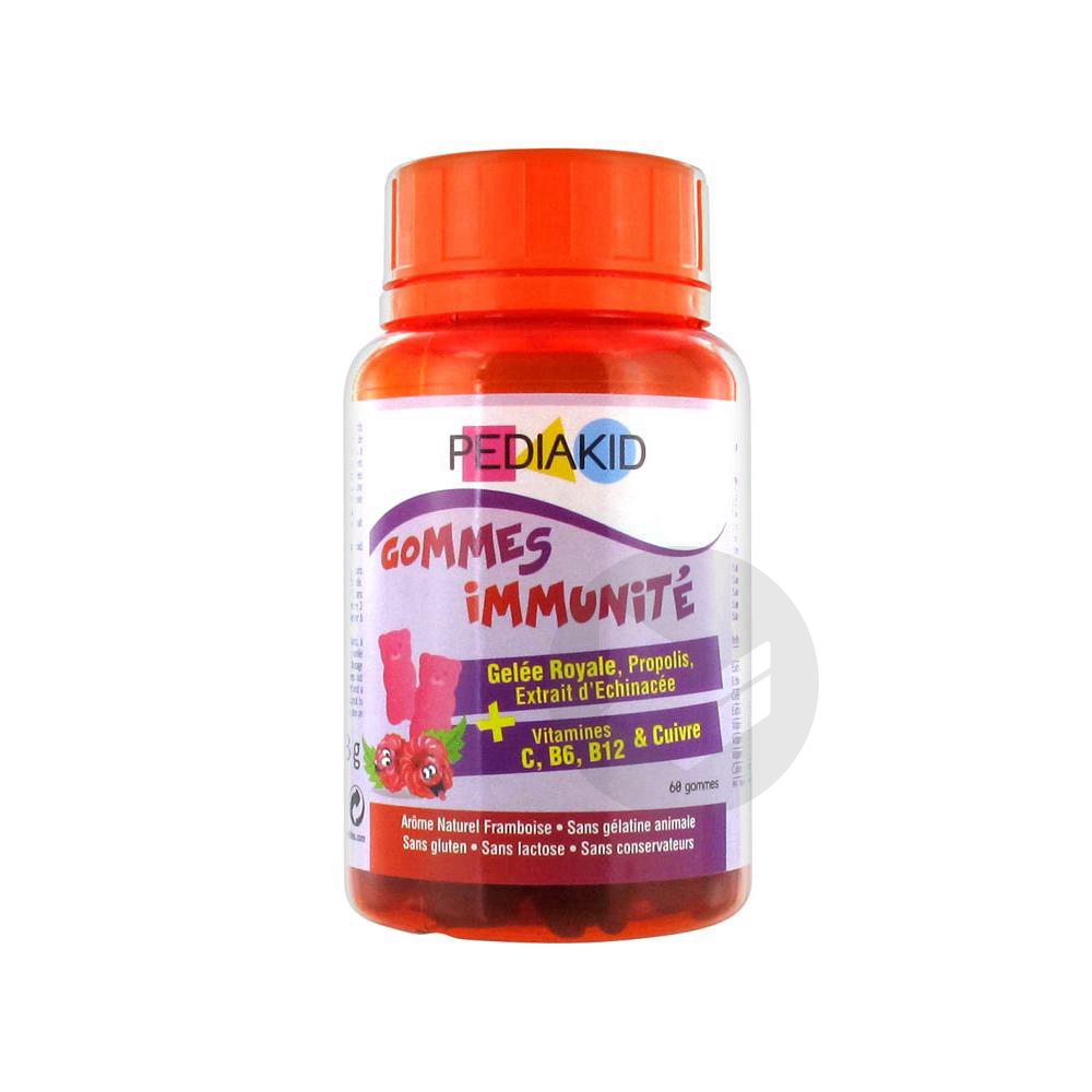 Gomme Ourson Immunite Framboise Pilulier 60