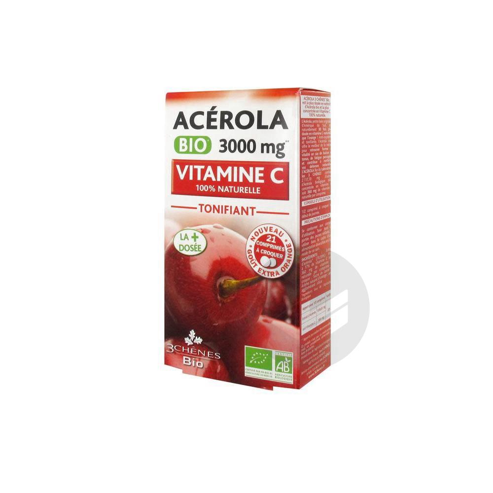 Les 3 Chênes Bio Acerola Bio 3000 mg 21 comprimés