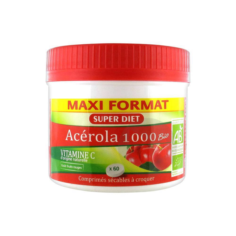 Acerola 1000 Bio Cpr A Croquer Pot 60