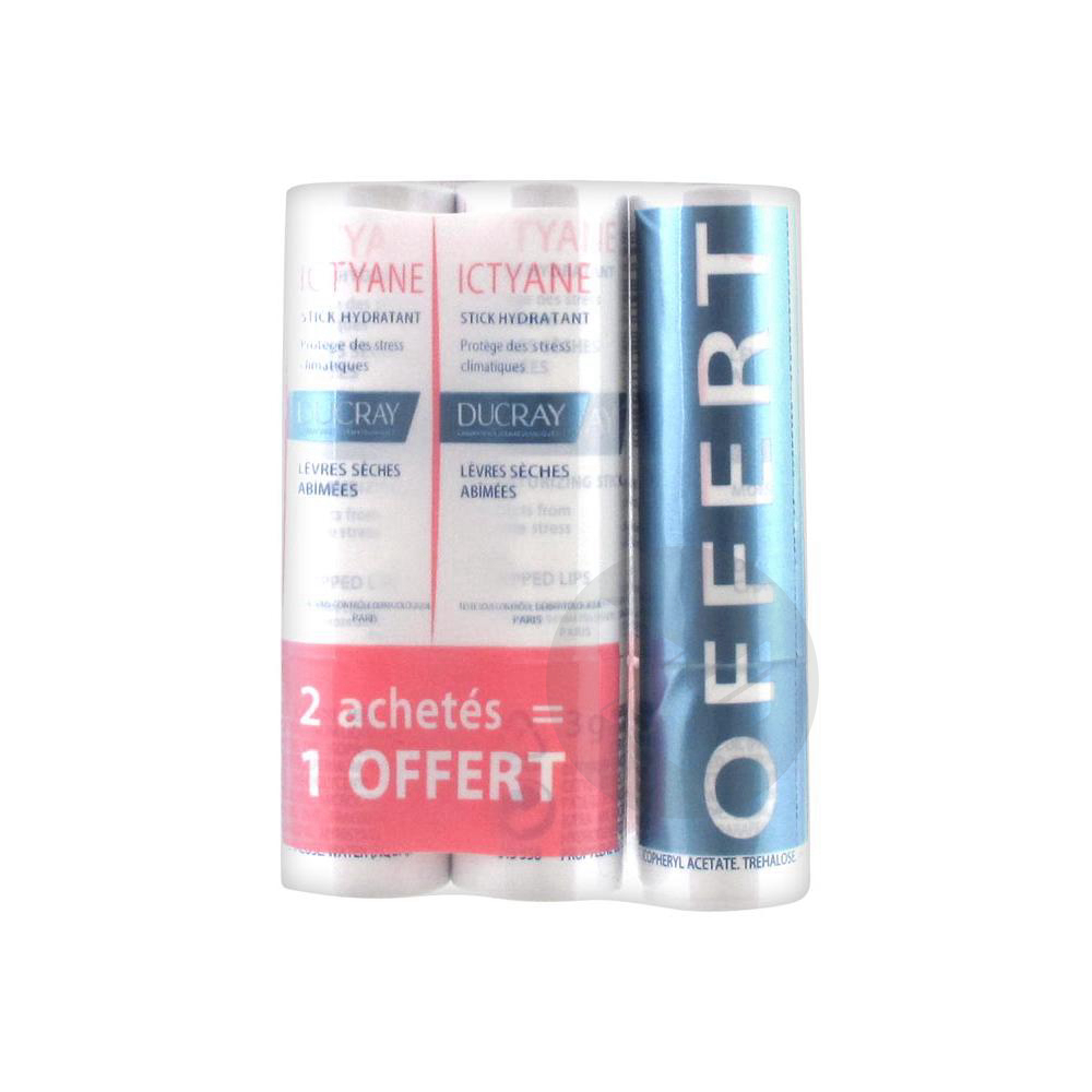 Ictyane Stick Levres Seches Abimees 3 Etuis 3 G