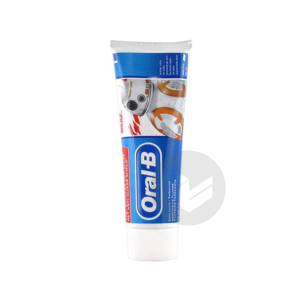 Oral B Junior Dentifrice Fluore Sans Sucre 6 Ans Et 75 Ml