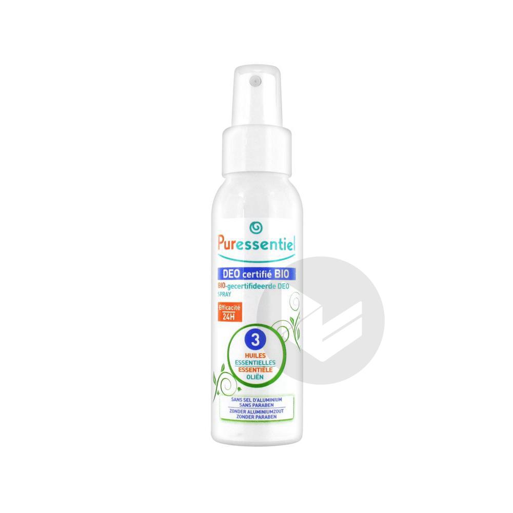 PURESSENTIEL HYGIENE & BEAUTE Déodorant bio 3 huiles essentielles Spray/50ml