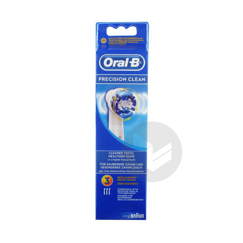 Oral B Precision Clean Brossette Pack 3