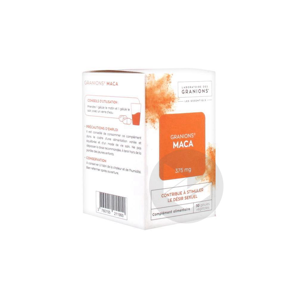 Granions Les Essentiels Maca 375 mg 30 Gélules Végétales