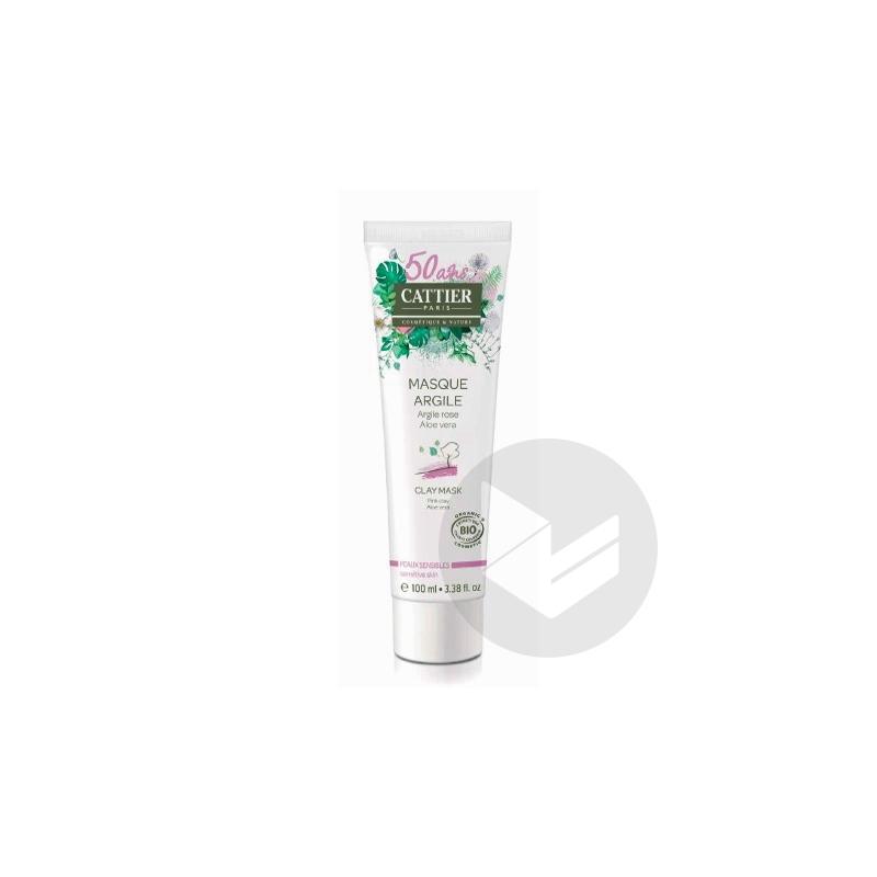 Masque Creme Argile Rose Peau Sensible T 100 Ml