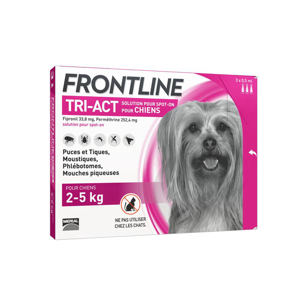 Tri Act Solution Pour Spot On Chien 2 5 Kg 3 Pipettes 0 50 Ml