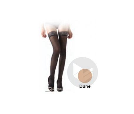 Diaphane Classe 2 Bas Auto Fixant Microfibre Femme Dune Taille M Hauteur Longue