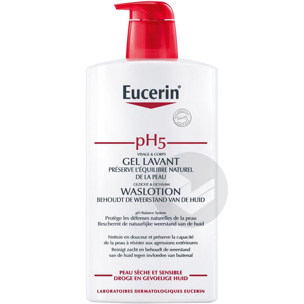 EUCERIN PEAU SENSIBLE pH5 Gel lavant Fl pompe/1l