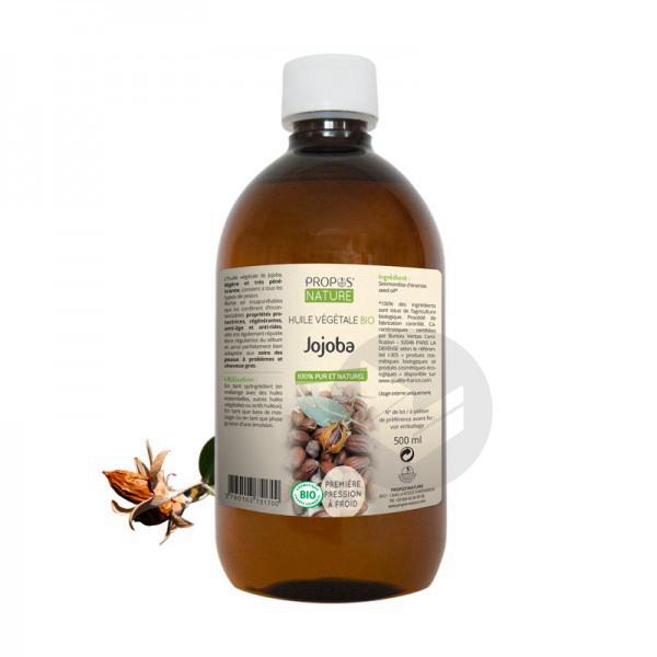 Huile végétale Jojoba Bio - 500 ml