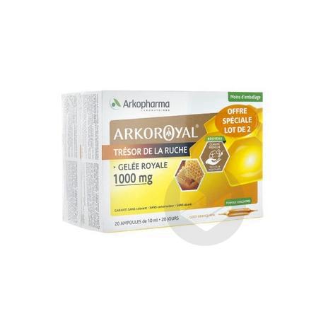 Arkoroyal Gelee Royale 1000 Mg S Buv 2 B 20 Amp 10 Ml