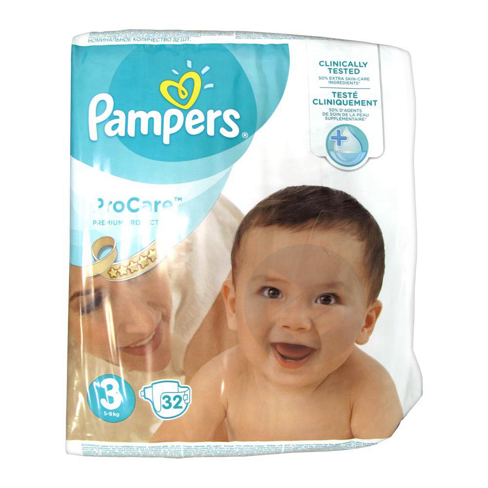PAMPERS PROCARE PREMIUM Couche protection T3 5-9kg Paq/32