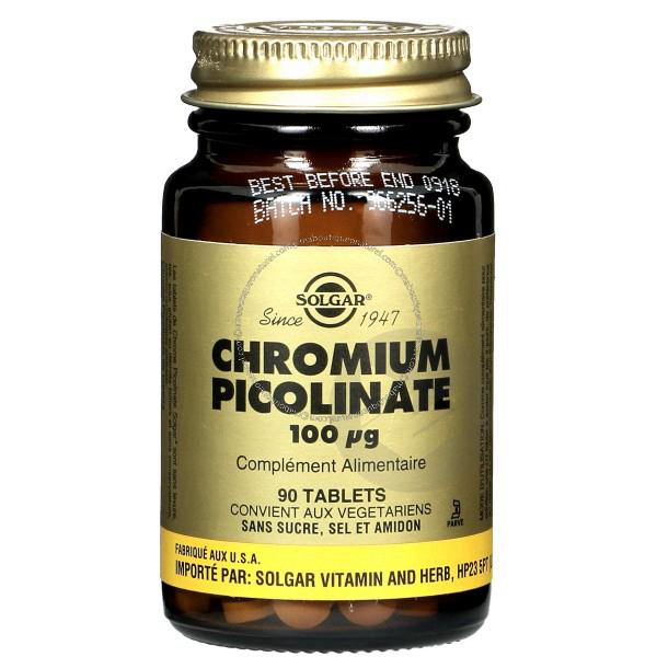 Chromium Picolinate 100 ug - 90 tablets