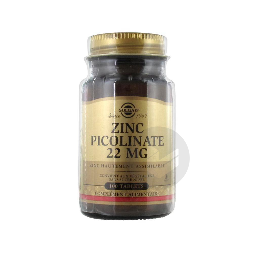 Zinc Picolinate Tabl Pot 100