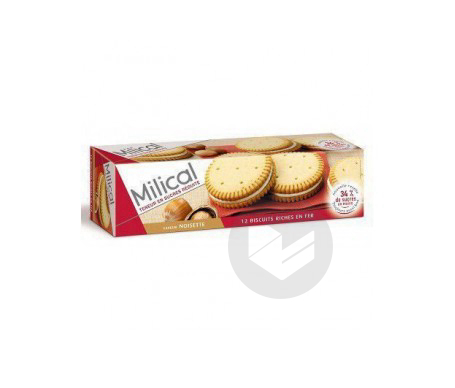 D07 MILICAL 12 BISCUITS NOISETTE