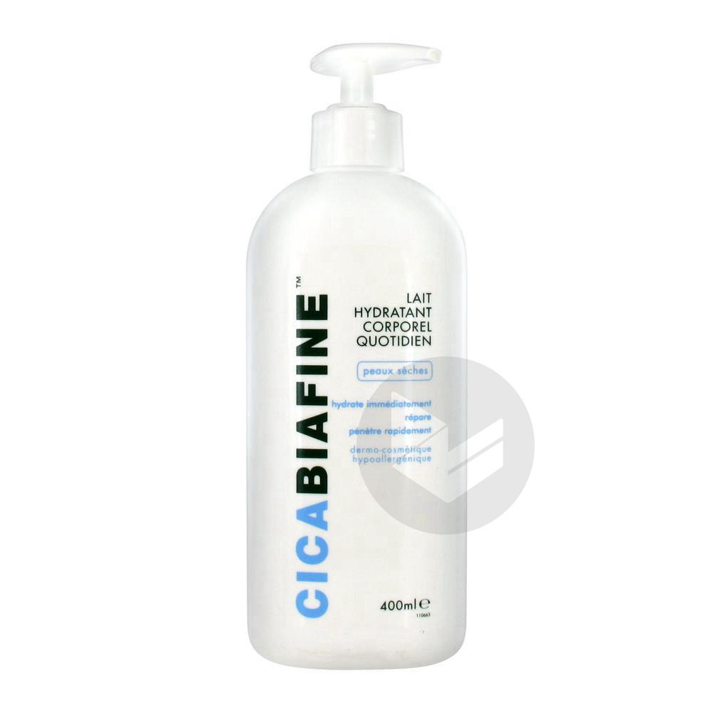 CICABIAFINE Lait hydratant corporel peau sèche Bouteille pompe/400ml