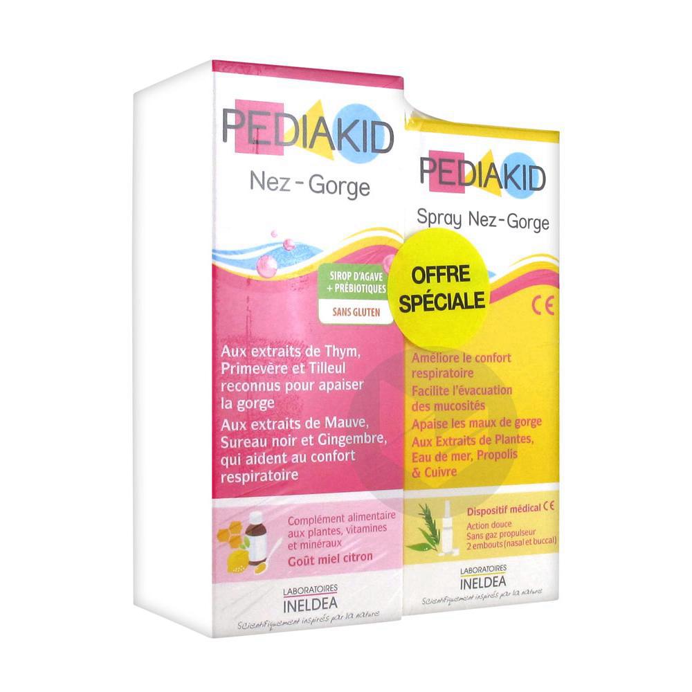 Pediakid Nez - Gorge 125 ml + Spray Nez - Gorge 20 ml
