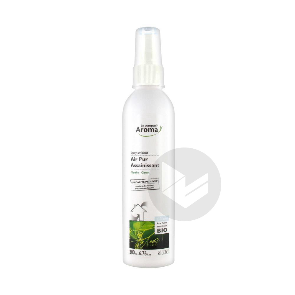 Air Pur Spray Assainissant Menthe Citron 200 Ml