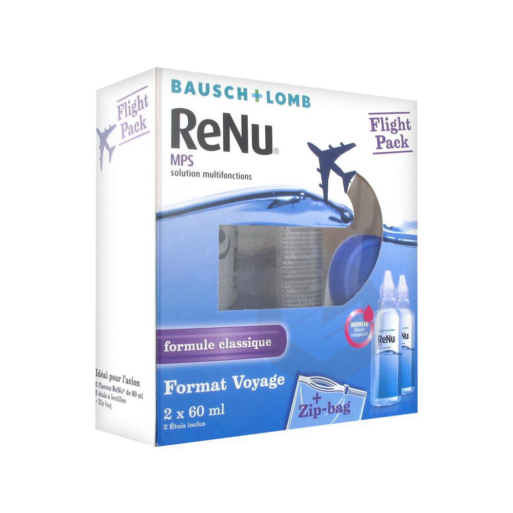Renu Flight Pack S Lent Souple Multifonction 2 Fl 60 Ml Sach Pvc