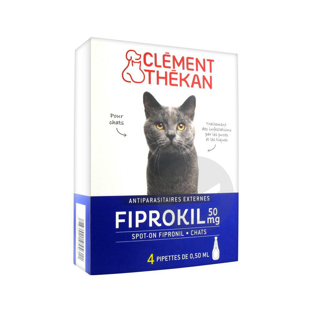 Clement Thekan Fiprokil 50 Mg Chat 4 Pipettes
