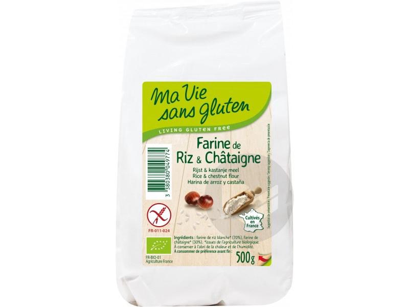 Farine de riz et châtaigne Bio - 500 g