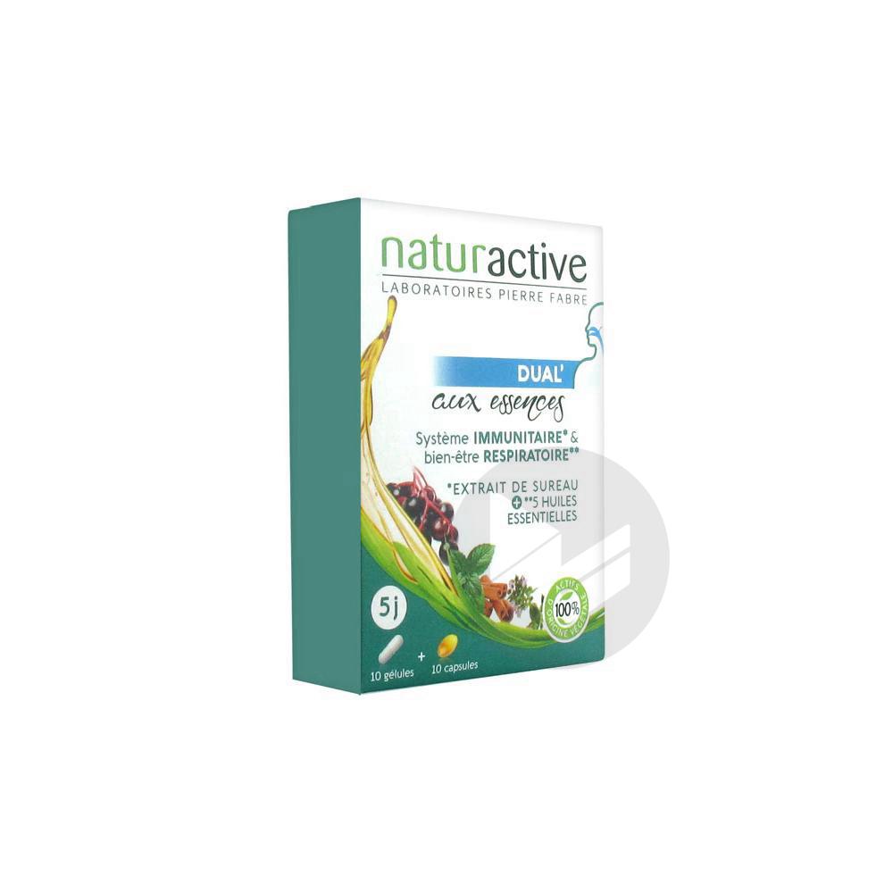 Naturactive Dual' aux Essences 10 Gélules + 10 Capsules