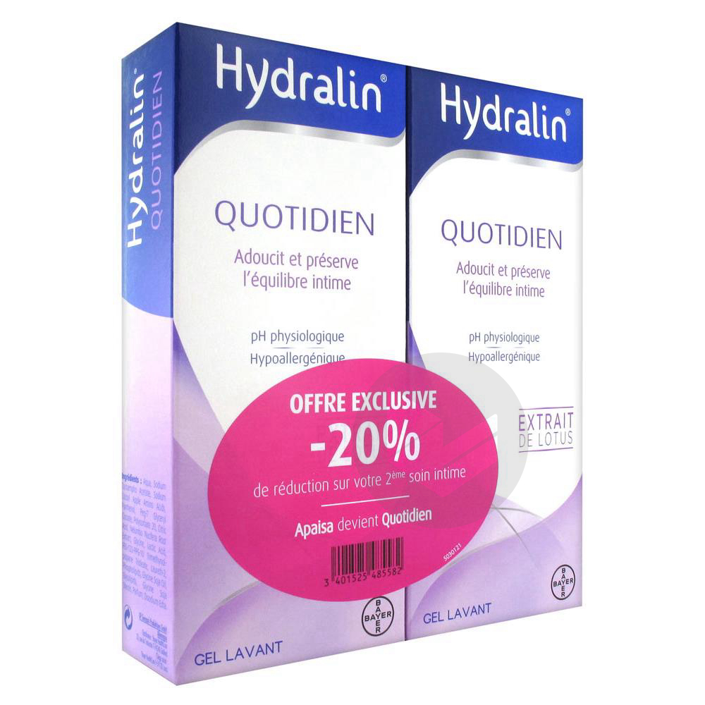 Quotidien Gel Lavant Usage Intime 2 Fl 200 Ml