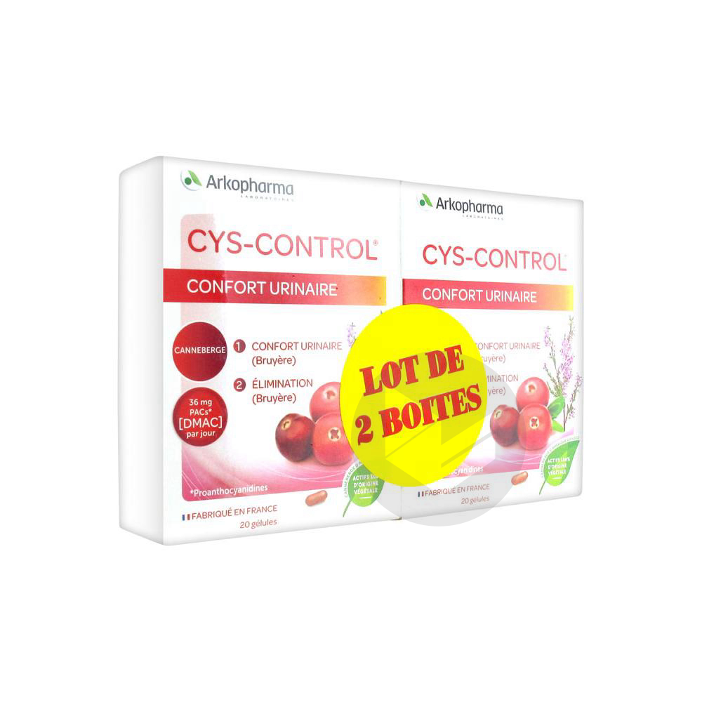 Cys Control Confort Urinaire Lot De 2 X 20 Gelules