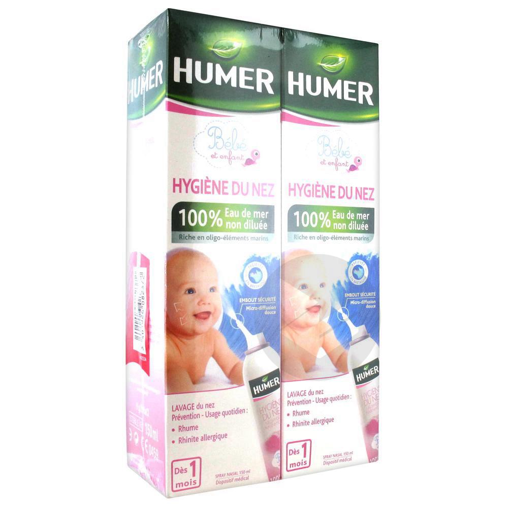 Humer Hygiène Du Nez Nourrisson Enfant Lot de 2 x 150 ml