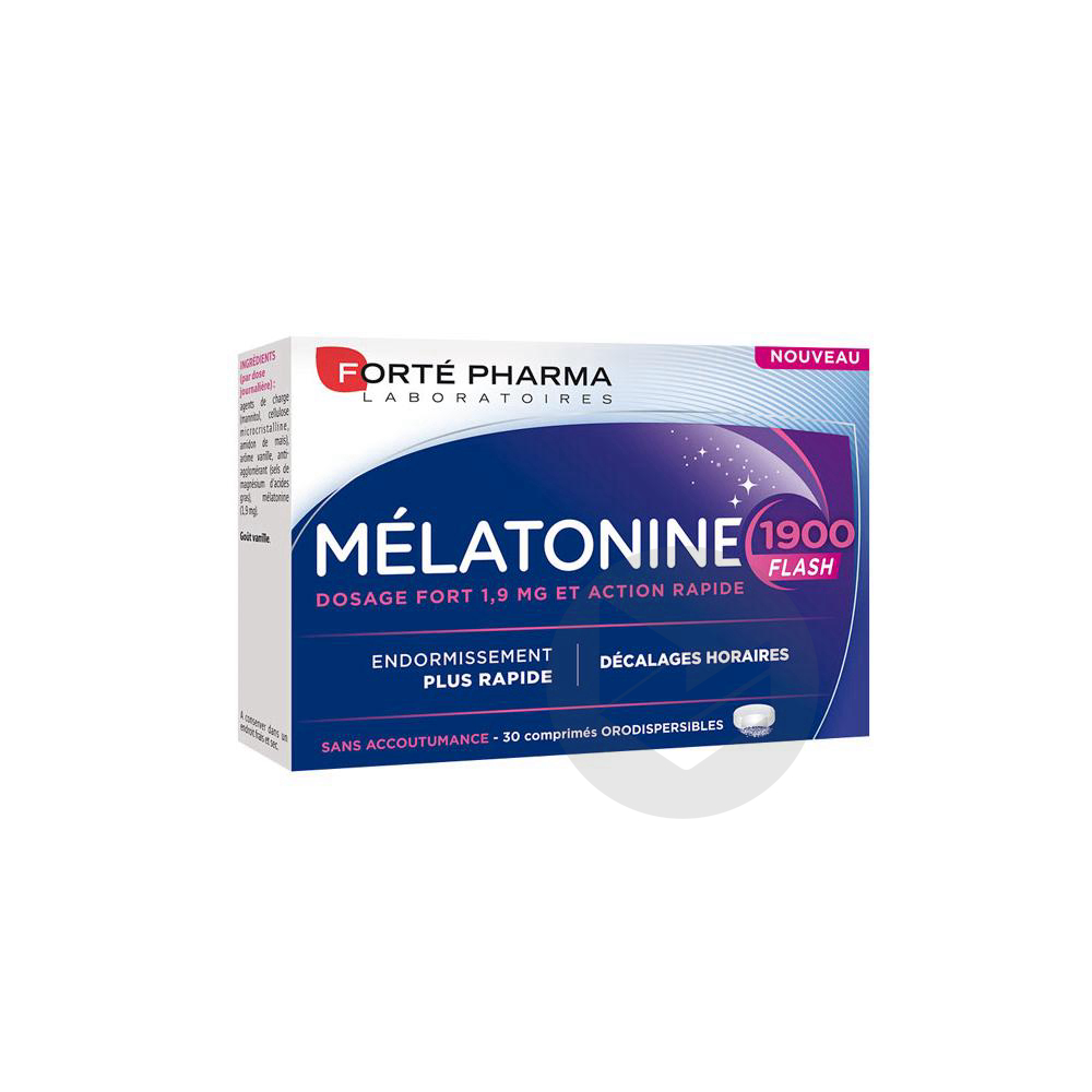 Forte Pharma Melatonine 1900 Flash 30 Comprimes