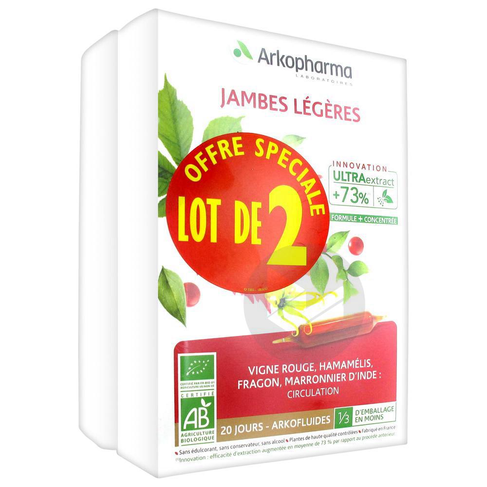 Arkofluides Jambes Legeres Lot De 2 X 20 Ampoules