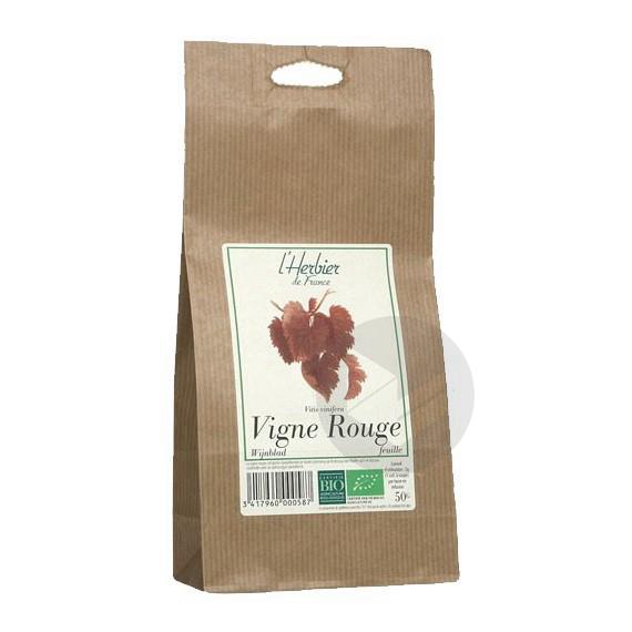 Vigne rouge feuilles Bio - Sachet 50 g