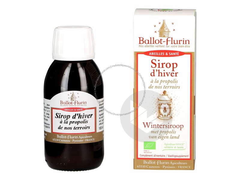 Sirop d'hiver propolis Bio - 100 ml
