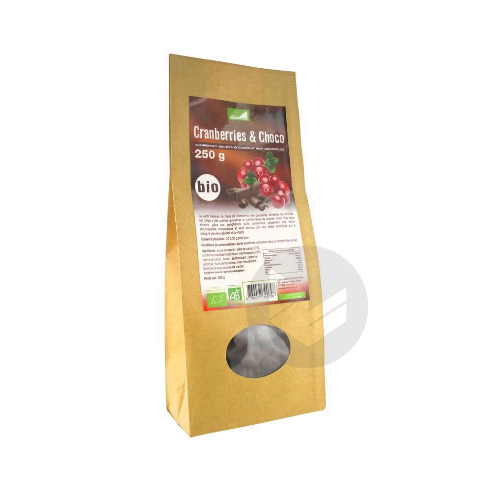 Chocolat Et Cranberries Bio 250 G