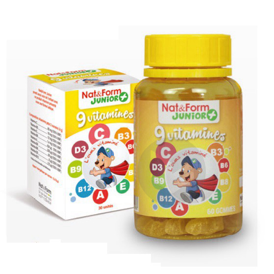 9 Vitamines 60 Oursons