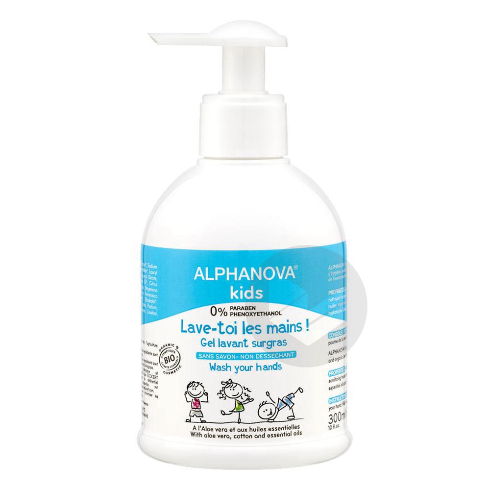 ALPHANOVA KIDS LAVE TOI LES MAINS Gel lavant Fl pompe/300ml