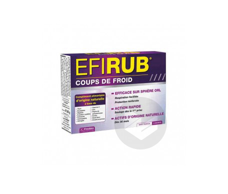 3 C Pharma Efirub Coups De Froid 16 Sachets Gout Tropical