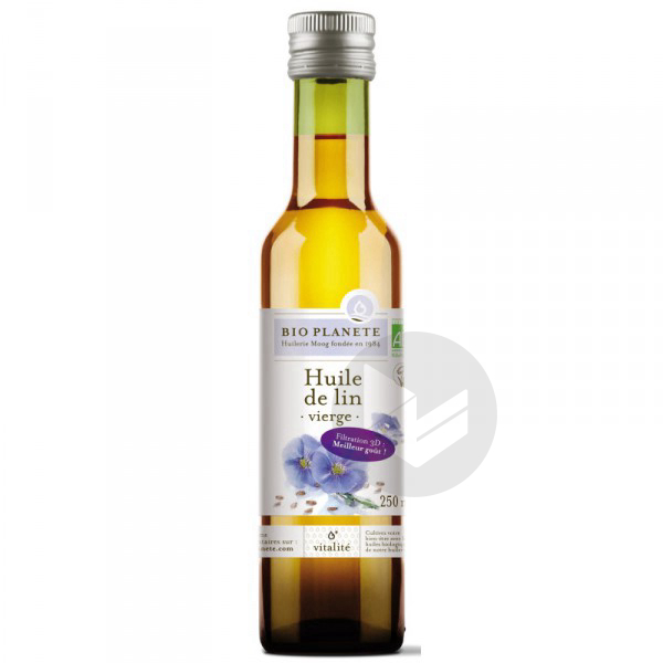 Huile de lin vierge Bio - 250 ml '