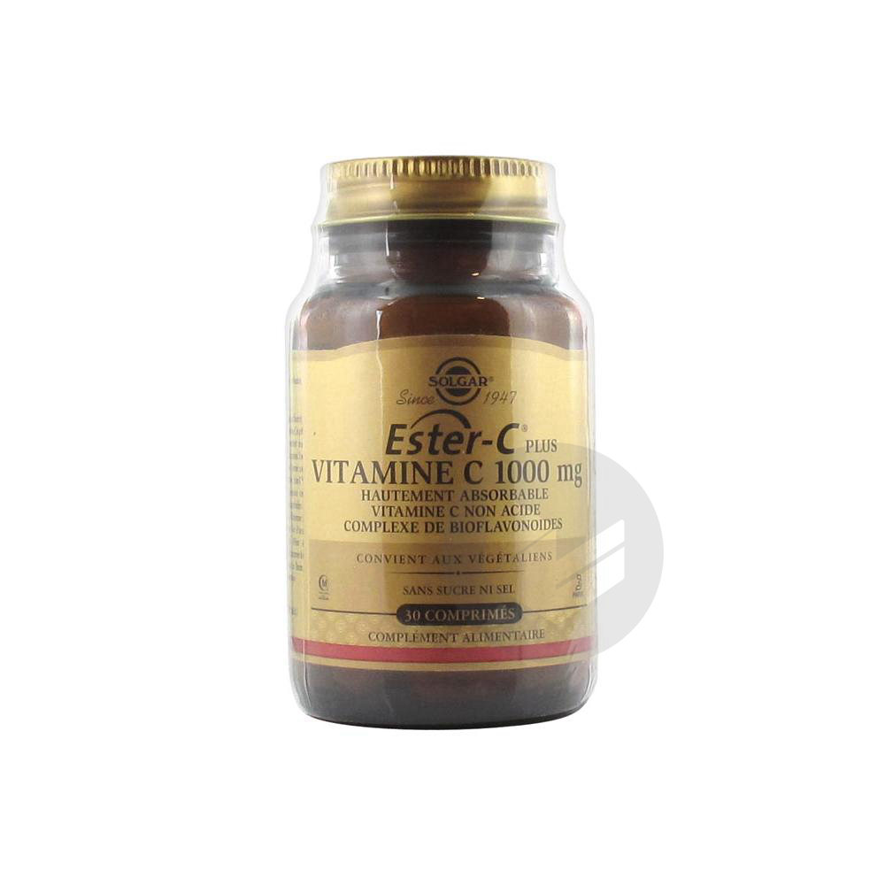 Solgar Ester-C Plus 1000 mg Vitamine C 30 Comprimés