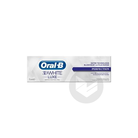 ORAL B 3D WHITE LUXE Dentifrice perfection T/75ml