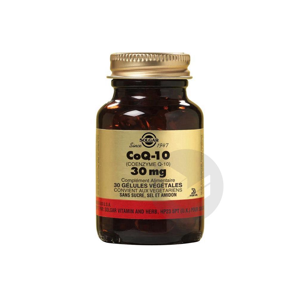 SOLGAR Coenzyme Q10 30 mg Gél Pot/30