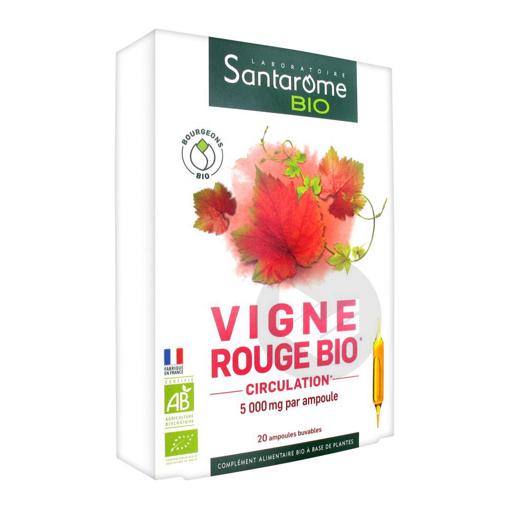 SANTAROME BIO Vigne rouge S buv 20Amp/10ml