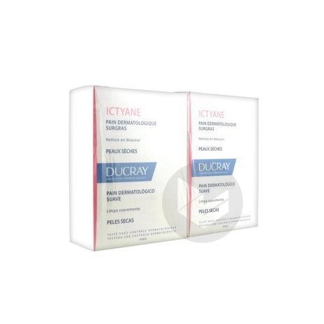 ICTYANE Pain dermatologique surgras sans savon 2x100g