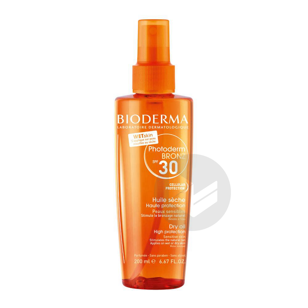 Photoderm Bronz Spf 30 Huile Seche Spray 200 Ml