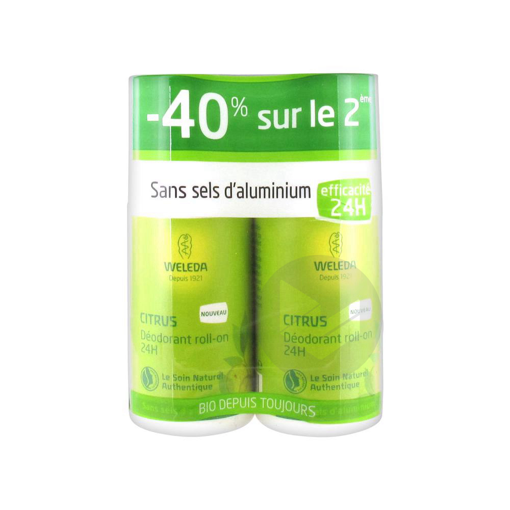 Deodorant Au Citrus Roll On 24 H Lot De 2 X 50 Ml